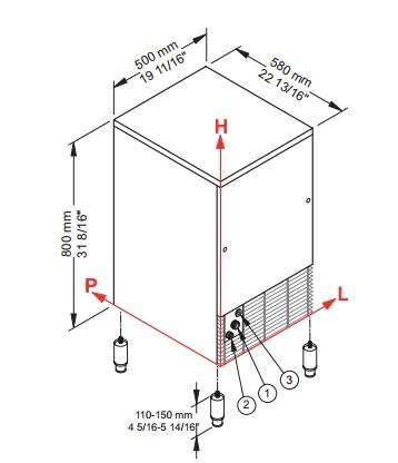 Manual fabricadora de hielo brema ice